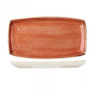 Picture of Stonecast Rectangular Plate 350 X 185mm Orange