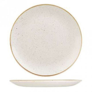Picture of Stonecast Round Coupe Plate 288mm Barley White
