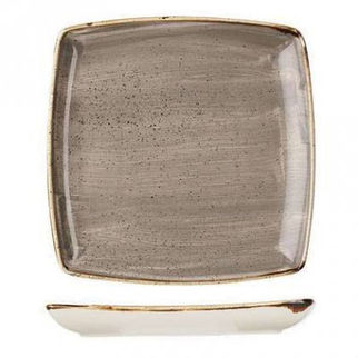 Picture of Stonecast Square Deep Plate 268mm Peppercorn Grey