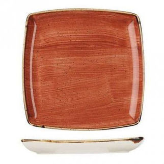 Picture of Stonecast Square Deep Plate 268mm Spiced Orange