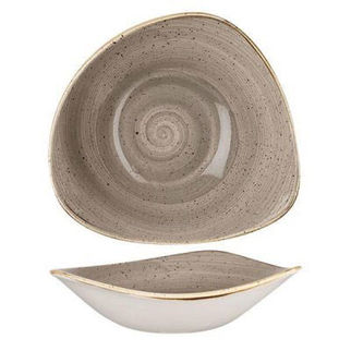 Picture of Stonecast Triangular Bowl 230mm Peppercorn Grey