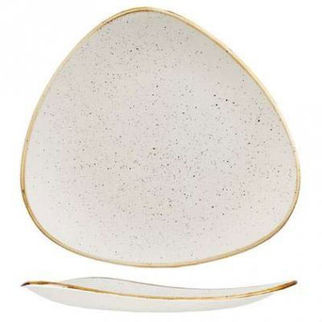 Picture of Stonecast Triangular Plate 229mm Barley White