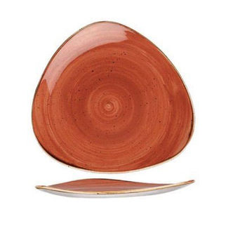 Picture of Stonecast Triangular Plate 260mm Spiced Orange