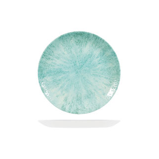 Picture of Studio Prints Stone Round Coupe Plate 217mm Aquamarine