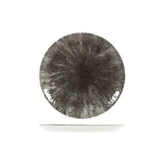 Picture of Studio Prints Stone Round Coupe Plate 217mm Quartz Black