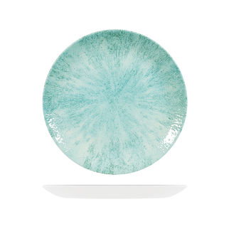 Picture of Studio Prints Stone Round Coupe Plate 260mm Aquamarine