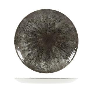Picture of Studio Prints Stone Round Coupe Plate 288mm Quartz Black