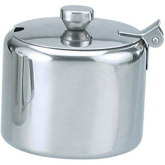 Picture of Sugar Bowl Stainless Steel 300ml 10oz W Hinged Lid