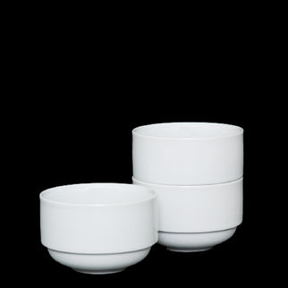 Picture of Superwhite Vitrified Stackable Bouillon Cup