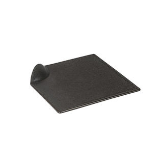 Picture of Luzerne Tate Square Plate with Handle Charcoal 160mm
