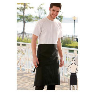 Picture of Three Quarter Apron With Pocket Black