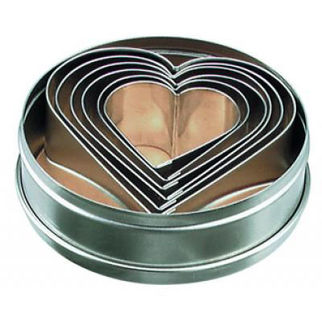 Picture of Tin Heart Cutters 6pc 50-90