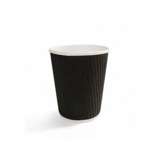 Picture of Triple Wall Cup Black 90x58x137mm