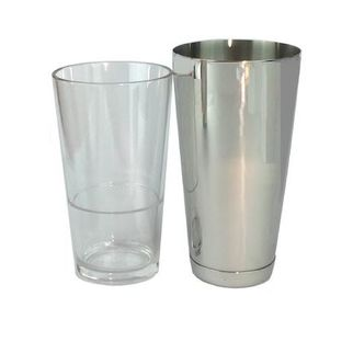 Picture of Uber Bar Boston Tin Cocktail Shaker with glass