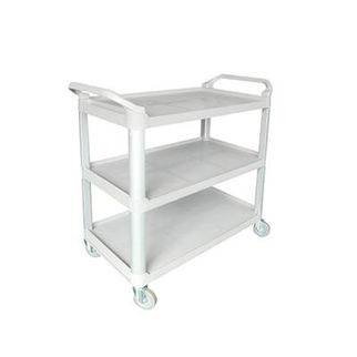 Picture of Utility Trolley Cart 3 Shelf Grey 845x430x950mm