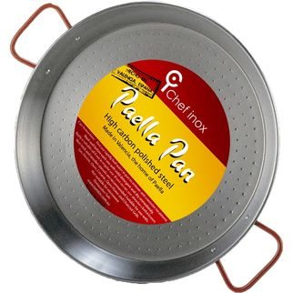 Picture of Paella Pan High Carbon Polished Steel 550mm