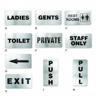 Picture of Wall Sign 18 10 110x60mm Toilet Signs arrow