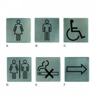 Picture of Wall Sign 18 10 130x130mm Toilet Signs restrooms