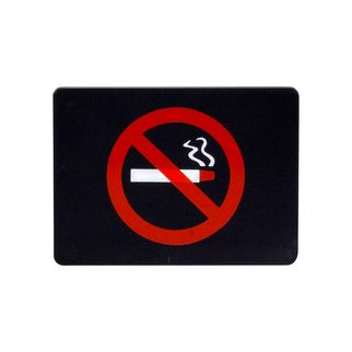Picture of Wall Sign No Smoking Symbol Red On Black