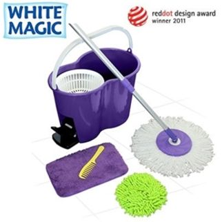 Picture of White Magic Foot Press Spin Mop