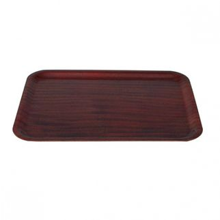 Picture of Wood Tray Rectangle mahogany 480mm