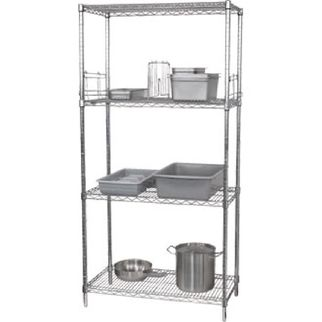 Picture of Vogue 4 Tier Wire Shelving Kit 1830x1220x460mm