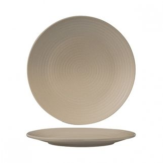 Picture of Zuma Sand round Coupe Plate Ribbed 265mm