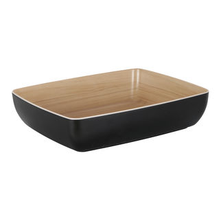 Picture of Zicco Echo Rectangular Bowl Black and Birch 325 x 265 x 75mm