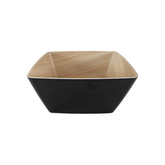 Picture of Zicco Echo Square Bowl Black and Birch 250 x 250 x 120mm