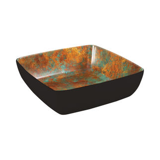 Picture of Zicco Patina Square Bowl Black 250 x 250 x 75mm