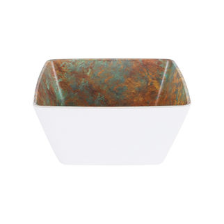 Picture of Zicco Patina Square Bowl White 250 x 250 x 120mm