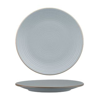 Picture of Zuma Bluestone Round Plate Ribbed 265mm