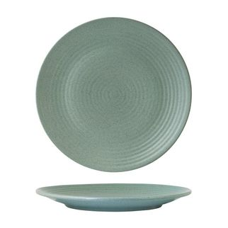 Picture of Zuma Mint Round Ribbed Plate 265mm